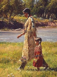 SUMMER ON THE GREASY GRASS, BY MARTIN GRELLE.  Native american art