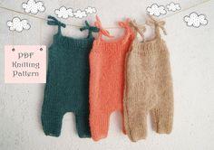 123 PDF Knitting Pattern Newborn baby Romper / Newborn Knitting pattern Photo props / Knit pattern newborn Photography prop