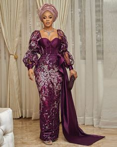 Lovely Gowns Designed for Wedding Aso ebi Styles; Lovely Gowns Designed for Wedding 2020 Nigerian Lace Dress, Nigerian Lace Styles, Aso Ebi Lace Styles, Lace Gown Styles, African Lace Styles, Cord Lace Styles, Nigerian Outfits, Ankara Styles, African Fashion Ankara