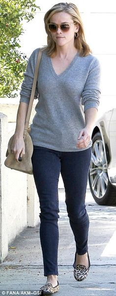 Fall fashion: The actress is spotted leaving a friend's house in Brentwood dressed in a chic autumnal outfit
