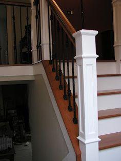 white risers and post  Lomonaco's Iron Concepts & Home Decor: November 2009