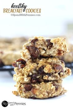These breakfast cookies are deliciously moist & soft! A healthy cookie that my kids love any time of day!  Made with simple ingredients yet these pack tons of flavor!