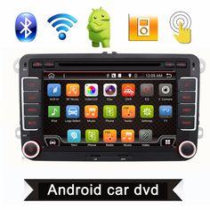 2 Din 7 Inch Quad Core Android 4.4 Car DVD Player GPS Navi PC For VW GOLF 5 6 POLO PASSAT CC JETTA TIGUAN Skoda/Seat 3G USB BT