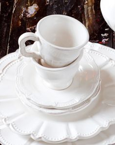 .I have all white dinnerware