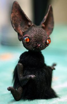 Bat Creature by chercheto (on etsy)  <><>I can't believe my eyes<><>   <><>I'm totally mesmerised!<><>