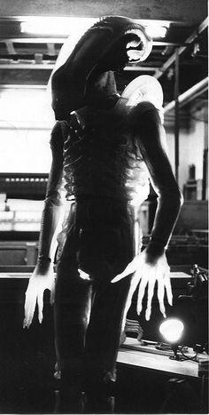 Test shoot for translucent alien; 1980