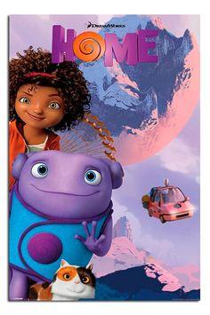 Home Moon Dreamworks Movie Poster. Must watch Cartoon Movies, Disney Movies, Disney Pixar, Dreamworks Home, Dreamworks Animation, Animation Movies, Disney Channel, Best Red Velvet Cake, Cute Alien