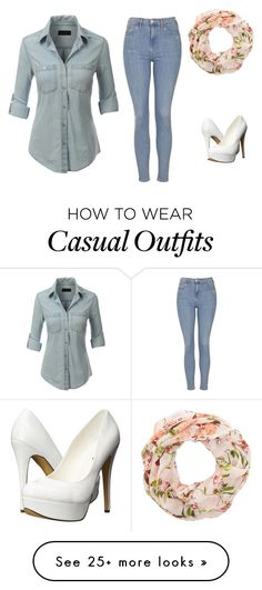 """Casual"" by legendarylayla on Polyvore featuring LE3NO, Topshop and Michael Antonio"