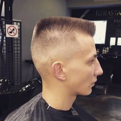 top is too long and it could use a better flatten up, but otherwise decent, by today's standards Great Haircuts, Haircuts For Men, Flat Top Haircut, Hair Cuts, Mens Hair, Friday, Flats, Haircuts, Boxing
