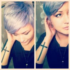 This color is phenomenal. I sort of miss my pixie cut...