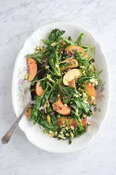 Pan-Charred Broccoli Di Ciccio + Nectarines