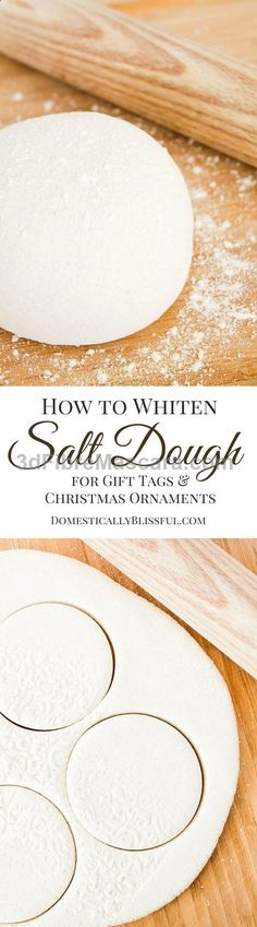 A simple tutorial for creating beautiful white salt dough for christmas ornaments  gift tags! #lingerie #gifts #forher #her #valentines #valentinesday #ladies #female #outfit #morning #ideas #dressingup #erotic #valentinegift