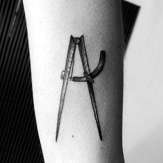 compass tattoo by fernanda prado #tattoo #fernanda #prado #fernandaprado #compass
