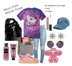"""Mood&Attitude🌺"" by amari-nyelle ❤ liked on Polyvore featuring Bee Goddess, Coco && Breezy, Disney, Victoria's Secret and Anastasia Beverly Hills"