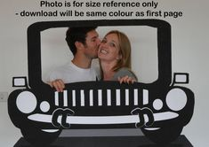 EXtra Large Blue Car Photo Booth Prop Car Prop by LMPhotoProps