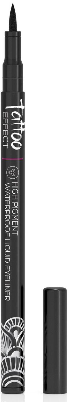 Best Waterproof Liquid Gel Eyeliner Pen - High Pigment & Long Lasting - Smudge & Run Proof - Goes on with Ease - Tattoo Effect Liquid Eyeliner - (Blackest Black)