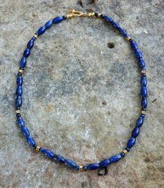 Genuine Grade A Natural Undyed Lapis Lazuli by EurekaSpringsRocks, $49.45