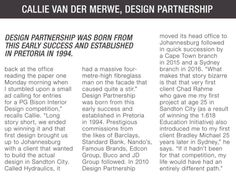 Hall of fame,  The PG Bison 1.618 Education initiative has been running since 1992. Callie was the first winner of the competition when it first started. We caught up with Callie to see how his career developed since then.   Callie van der Merwe, Design Partnership, PG Bison,  #SouthAfrica #Awards #Halloffame #Architecture #Design #Australia