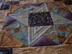 Love how she quilted this by Jane O of NY