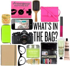 """""""what's in the bag?"""" by serena-b on Polyvore great ideas for what should be in a daily purse"""