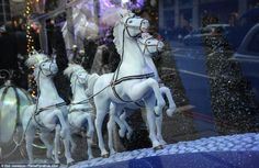 Magical: Model horses from the Cinderella display HARODS 2012