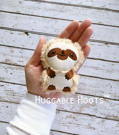 Sloth Keychain Charm, Small Charm, Stuffie Sloth, Plushie Sloth, Stuffed Animal, Zoo Animal, Baby Gift, Unique Gift, Custom, Kawaii