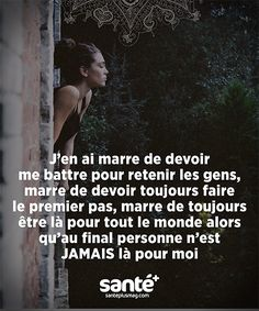 Citation ♥ Plus Words Quotes, Me Quotes, Sayings, French Quotes, Think, Bad Mood, Motivation, Some Words, Beautiful Words