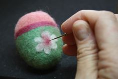 """Have fun making a colorful basket of needle felted Easter eggs with this quick and easy tutorial. This is 2nd in a series of 3 needle felting Easter tutorials. Previously we made """"Dot&…"""