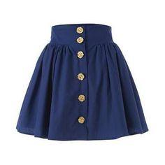 Flower Button Skirt by heather