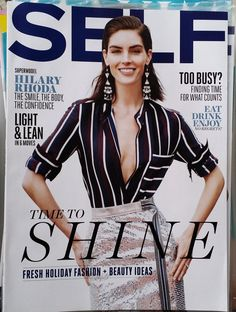 Hilary Rhoda,Self Magazine,December 2014,Health,Fitness,Beauty,Fashion.Diet,News