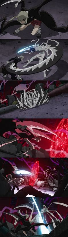 Day 27 | Most Badass Scene From Any Anime Character | Maka fights the Kishin Asura and you find out she is a Meister with weapon blood. <<<< THIS WAS COOL UNTIL SHE PUNCHED HIM. >:[