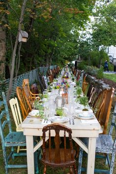 HVVR Assorted Dining Tables & Chairs, All Dressed Up, At Home Wedding