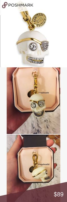 Juicy Couture 2010 Limited Edition Skull Charm Excellent condition • comes with box shown • no tags • limited edition charm from 2010 • NO TRADES Juicy Couture Jewelry