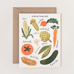 Homegrown Garden Card 8 Pack by Rifle Paper Co.