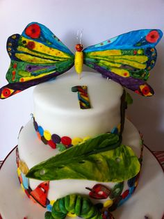 The Very Hungry Caterpillar Birthday Cake by Cakes by Cat