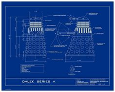 Doctor who tardis blueprint graphic art poster in blue gridwhite how to make dalek armor malvernweather Images