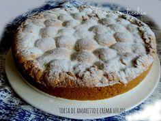 Torta di amaretto e crema vegan. Una classica torta di frolla agli amaretti, ma rivisitata in versione vegan. Risultato ottimo