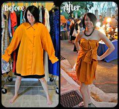 Esta mujer transforma ropas feas y de segunda mano en elegantes vestidos. ¡Qué talento!
