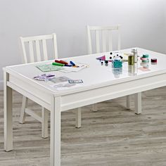 Sale ends soon. Shop Large White Adjustable Kids Table, Leg Set and Paper Roll. The Complete Large Adjustable White Kids Table Set was designed to grow with your little one through the years. Toddler Art Table, Kids Art Table, Kids Craft Tables, Kids Table And Chairs, Kids Room Art, Kid Table, Table Desk, Desk Mat, Lego Table