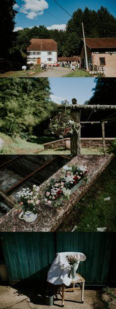 Décoration de mariage esprit nature - Alsace