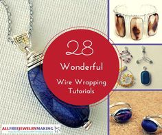 BEAUTIFUL! These 28 patterns will make you fall in love with wire wrapping. Necklaces, earrings, bracelets... So many wire wrapping jewelry projects, so little time!