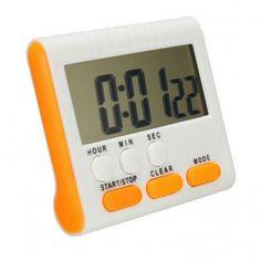 Aimanté : apposez votre minuteur sur votre réfrigérateur ou autre appareil métallique .Simple à programmer avec ses 6 boutons. Affiche digital,H-M-Secondes
