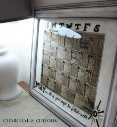 Charcoal and Crayons: Jute Calendar
