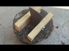 Kindling splitter made from an old axe head (no welding) - YouTube