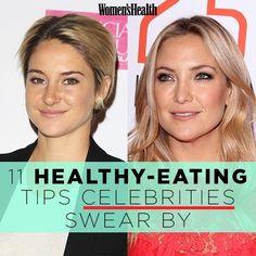 11 Healthy-Eating Tips Celebrities Swear By | Women's Health Magazine