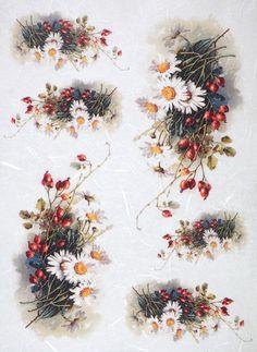 Rice Paper for Decoupage Decopatch Scrapbook Craft Sheet Vintage Marguerite