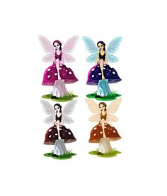 Fantasy Sepia Fairy Image. Fairy Image, Fairy Cutout, 4PACK, Mushroom Blue Brown Magenta Fairy, Transparent Background, Transfer Template by ICreateAndCollect on Etsy