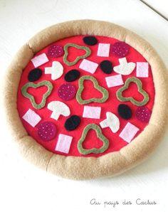 Pizza dînette feutrine / pizza felt food Au pays des Cactus