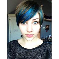 blue pixie cut | peek a boo blue hair in a pixie cut Possible haircuts