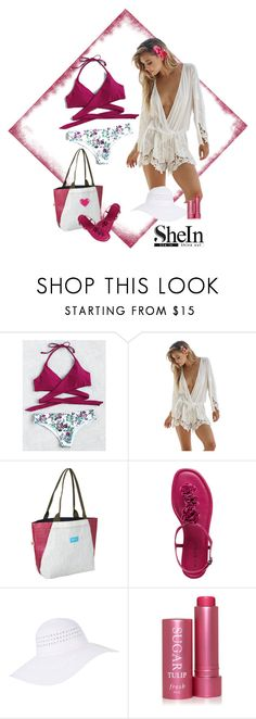 """""""Shein Floral Halter bikini set"""" by lorrainekeenan ❤ liked on Polyvore featuring Beach Bunny, Mafia, Accessorize and Fresh"""